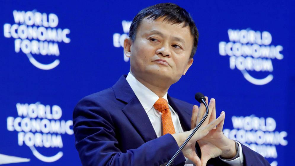 Jack Ma en el foro económico mundial